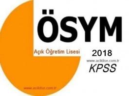 Açık Lise KPSS - AÖL KPSS Başvuruları